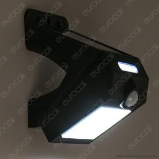 Life Lampada da Muro LED 3W con Pannello Solare e Sensore Colore Nero - mod. 39.9PLS102B