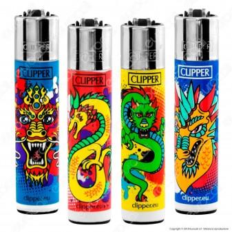 Clipper Large Fantasia Color Dragons - 4 Accendini