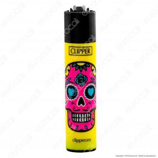 Clipper Large Fantasia Skull Mix 1 - Box da 48 Accendini