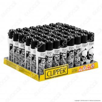 Clipper Large Fantasia Skull Mix 2 - Box da 48 Accendini