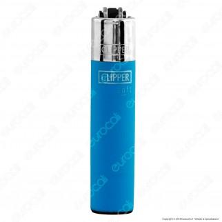 Clipper Micro Fantasia Soft Touch Fluo - Box da 48 Accendini
