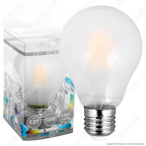 SkyLighting Lampadina LED E27 10W Bulb A67 Frost Filamento - mod. HPFL-2710SC / HPFL-2710SD / HPFL-2710SF