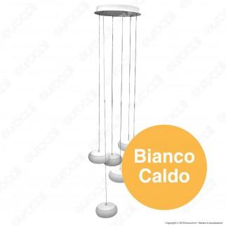 V-Tac Lampadario con Composizione LED Rotondo a Sospensione 76W con Driver Colore Bianco - SKU 40011