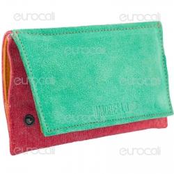 Il Morello Classic Portatabacco in Vera Pelle Jamaica Verde Gialla e Rossa