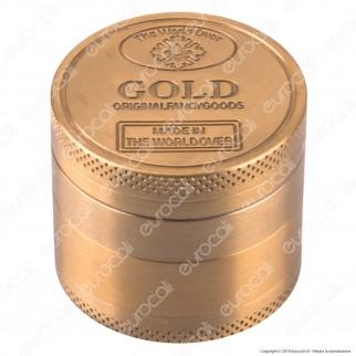 Champ Grinder Tritatabacco 4 Parti in Metallo mod. Gold