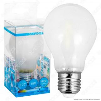 SkyLighting Lampadina LED E27 6W Bulb A60 Frost Filamento - mod. HPFL-2706SC / HPFL-2706SD / HPFL-2706SF