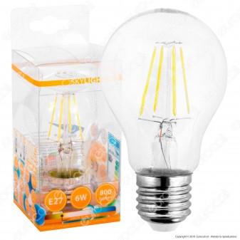 SkyLighting Lampadina LED E27 6W Bulb A60 Filamento - mod. HPFL-2706C / HPFL-2706D / HPFL-2706F
