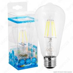 SkyLighting Lampadina LED E27 6W Bulb ST64 Filamento - mod. ST64-2706C / ST64-2706D / ST64-2706F