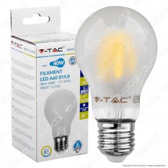 V-Tac VT-1934 Lampadina LED E27 4W Bulb A60 Frost Filamento - SKU 4486 / 4487 / 4488