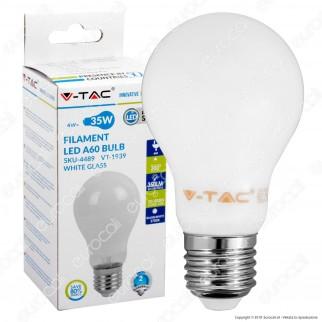 V-Tac VT-1939 Lampadina LED E27 4W Bulb A60 White Filamento - SKU 4489 / 4490 / 4491