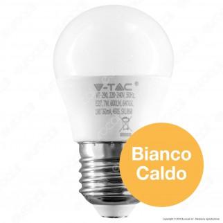 V-Tac PRO VT-290 Lampadina LED E27 7W MiniGlobo G45 Chip Samsung - SKU 866 / 867 / 868