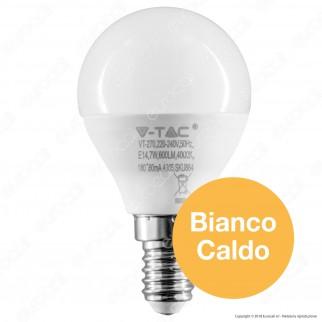 V-Tac PRO VT-270 Lampadina LED E14 7W MiniGlobo P45 Chip Samsung - SKU 863 / 864 / 865