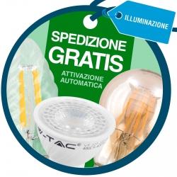 Spedizione Gratuita su Tutto l'Ordine Acquistando Lampadine LED V-Tac