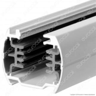 V-Tac Binario a 4 Poli in Alluminio Track Light Colore Bianco Lunghezza 1 Metro - SKU 9945