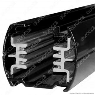 V-Tac Binario a 4 Poli in Alluminio Track Light Colore Nero Lunghezza 1 Metro - SKU 9944