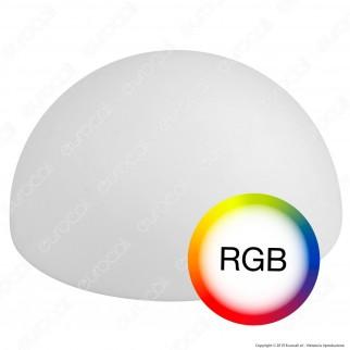 V-Tac VT-7809 Semi Sfera Multicolor LED RGB 6W Ricaricabile con Telecomando IP54 - SKU 40221