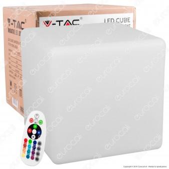 V-Tac VT-7811 Cubo Multicolor LED RGB 3W Ricaricabile con Telecomando IP54 - SKU 40241