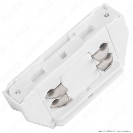 V-Tac Connettore a 4 Poli Colore Bianco per Track Light - SKU 3655