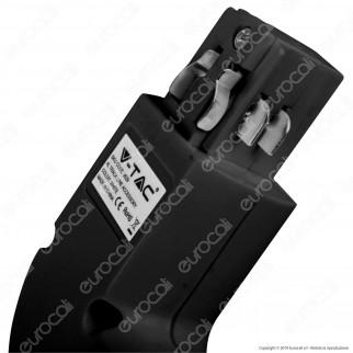 V-Tac Connettore L a 4 Poli Colore Nero per Track Light - SKU 3528