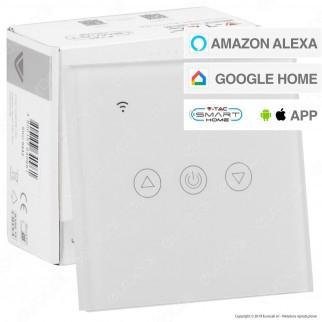 V-Tac Smart VT-5013 Interruttore Dimmer Touch Wi-Fi Colore Bianco - SKU 8433