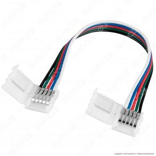 Connettore Flessibile per Strisce LED Multicolore RGB 5050 Clip 5 Pin - SKU 2587