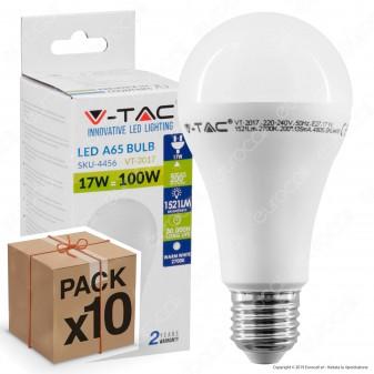 10 Lampadine LED V-Tac VT-2017 E27 17W Bulb A65 - Pack Risparmio