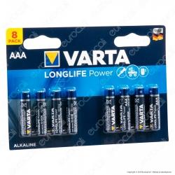 Varta High Energy Alcaline Ministilo AAA - Blister 8 Batterie