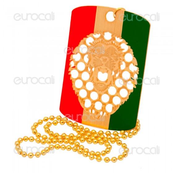Grinder Collana con Mini Tessera Tritatabacco in Metallo - Roaring Lion