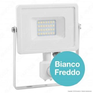 V-Tac PRO VT-20-S Faretto LED 20W Ultra Sottile Slim Chip Samsung con Sensore Colore Bianco - SKU 450