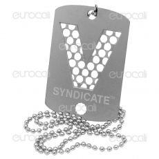 Grinder Collana con Mini Tessera Tritatabacco in Metallo - Silver V-Syndicate