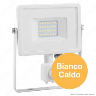 V-Tac PRO VT-20-S Faretto LED 20W Ultra Sottile Slim Chip Samsung con Sensore Colore Bianco - SKU 448 / 450