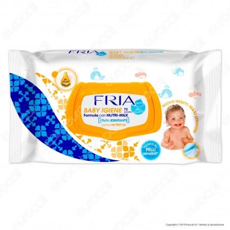 Fria Salviette Baby Igiene con Olio di Argan e Formula Nutri Milk - 72 Salviettine