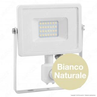 V-Tac PRO VT-20-S Faretto LED 20W Ultra Sottile Slim Chip Samsung con Sensore Colore Bianco - SKU 448 / 449 / 450