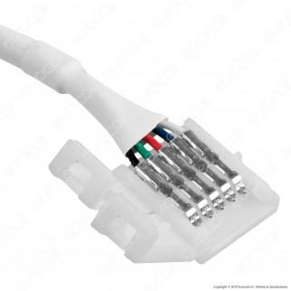 Connettore Clip 5 Pin RGB+W per Controller Strisce LED Multicolore - SKU 2588