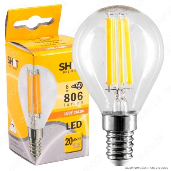 Bot Lighting Lampadina LED E14 6W MiniGlobo P45 Filamento - mod. WLD3006X2 / WLD3006X3