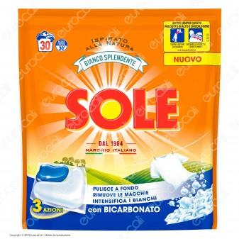 Sole Bianco Splendente Gel Caps Detersivo per Lavatrice - Confezione da 30 capsule
