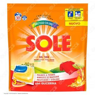 Sole Perle Proteggicolore GelCaps Detersivo per Lavatrice - Confezione da 30 capsule