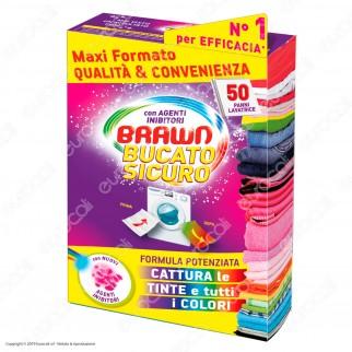 Brawn Bucato Sicuro con Agenti Inibitori - 50 panni lavatrice