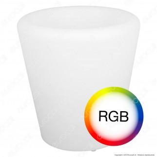 V-Tac VT-7805 Lampada a Forma di Vaso Multicolor RGB LED 1W Ricaricabile con Telecomando IP54 - SKU 40181