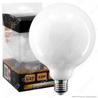 Intereurope Light Lampadina LED E27 12W Globo G125 Milky Filamento - mod. LL-GNFM12512C
