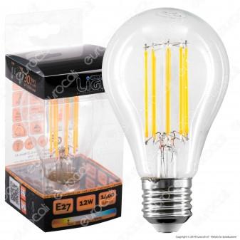 Intereurope Light Lampadina LED E27 12W Bulb A65 Filamento - mod. LL-HPF2712C / LL-HPF2712F
