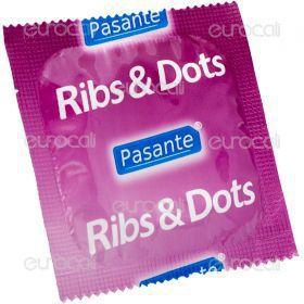 Pasante Ribs & Dots - Confezione da 1 Preservativo
