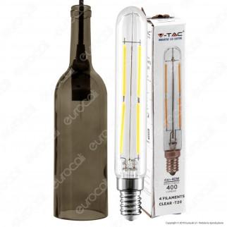 V-TAC VT-7558 Lampadario di Vetro a Forma di Bottiglia con Portalampada per Lampadine E14