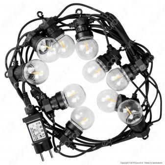 V-Tac VT-71510 Catena da 10 Lampadine LED Mini Globo Filament per Interno e Esterno - SKU 2728