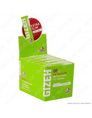 Cartine Gizeh Verdi Extra Slim Corte - Scatola da 50 Libretti