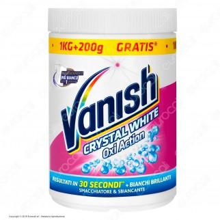 Vanish Crystal White Smacchiatore e Sbiancante in Polvere - 1000+200 gr