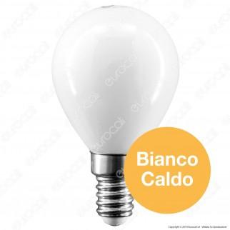 Intereurope Light Lampadina LED E14 4W MiniGlobo P45 Milky Filamento - mod. LL-HBFM1404C