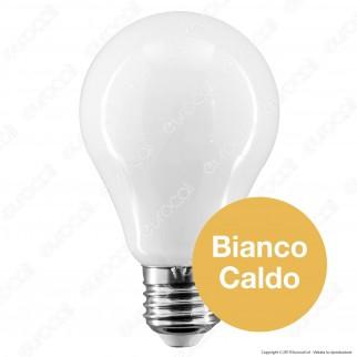 Intereurope Light Lampadina LED E27 8W Bulb A60 Milky Filamento - mod. LL-HPFM2708C