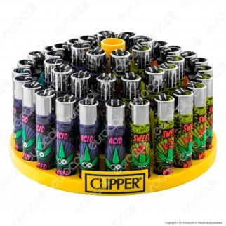 Clipper Large Fantasia Weedy 1- Box da 48 Accendini