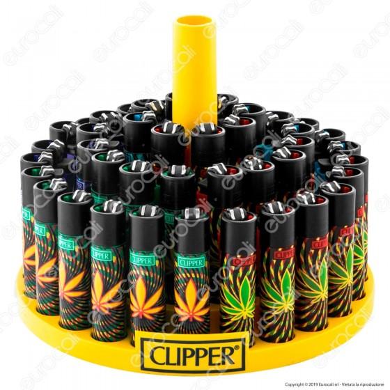 Clipper Large Fantasia Weedy 3 - Box da 48 Accendini